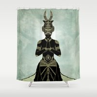 ornate Shower Curtains featuring Ornate spirituality by Barruf