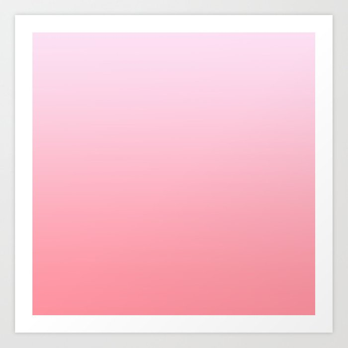 7921aa9f054 Pastel Ombre Lilac Millennial Pink Gradient Pattern Art Print by ...