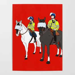 London Metropolitan Horse Cops Poster
