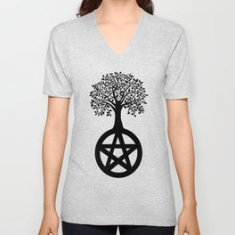 Tree Pentacle Unisex V-Neck