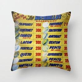 Bocadillos / Sandwiches Throw Pillow