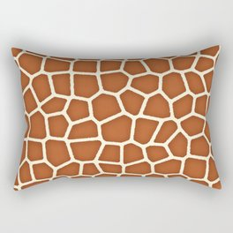 Wild Animal Print, Giraffe in Shades of Copper Brown Rectangular Pillow
