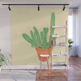 Cactus Plant Illustrated Print Wall Mural