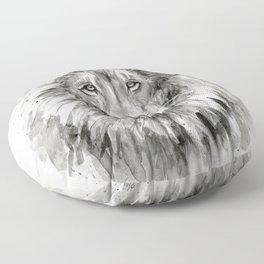 Lion Watercolor Animal Floor Pillow