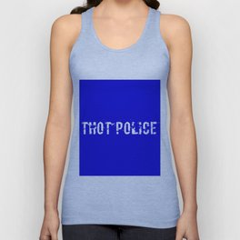 THOT Police - Distressed Unisex Tank Top