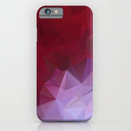 POPPY RED AND LILAC LOWPOLY iPhone Case