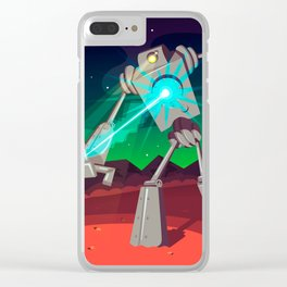 Robot Planet Clear iPhone Case