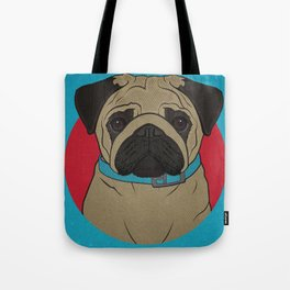 Icons of the Dog Park: Pug Design in Bold Colors for Pet Lovers Tote Bag