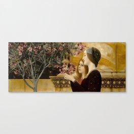 "Gustav Klimt ""Two Girls With An Oleander"" Canvas Print"