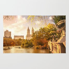 New York City Autumn Landscape Rug