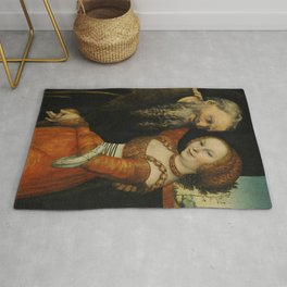 """Lucas Cranach the Elder """"The Ill-Matched Couple"""" 1. Rug"""