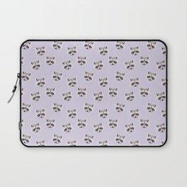 Raccoon Pastel Purple Pattern, Woodland Baby Animals, Nursery Animals Baby Girl Room Decor Laptop Sleeve