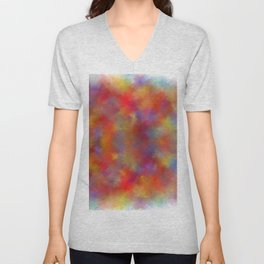 digital watercolor with dark red Unisex V-Neck