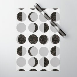 Moon Phases - White Wrapping Paper