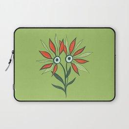 Cute Eyes Flower Monster Laptop Sleeve