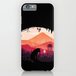 Lonely Wolf in The Cave iPhone Case