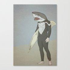 SHARK SURFER Canvas Print