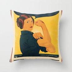 Leia the Riveter 2: The Alliance Strikes Back Throw Pillow