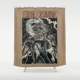 Eddie the Head / Iron Maiden (DRAWLLOWEEN 8/31) Shower Curtain