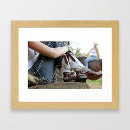 New Boots Framed Art Print