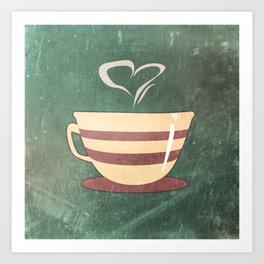 Coffee is love illustration Art Print