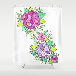 Peonies  Watercolor Shower Curtain