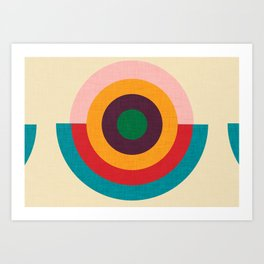 Solaris #homedecor #midcenturydecor Art Print