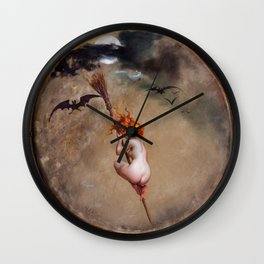 "Luis Ricardo Falero ""The witch, painted on a tambourine"" Wall Clock"
