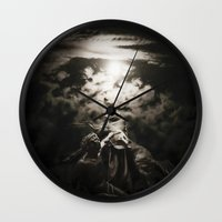 warrior Wall Clocks featuring Warrior by Armine Nersisian