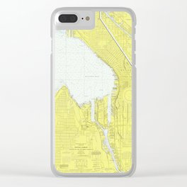 Map of Seattle WA (1976) Clear iPhone Case
