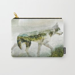 Wolf Mountain Looking Right Carry-All Pouch