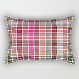 Red Rose Edges Plaid 2 Rectangular Pillow