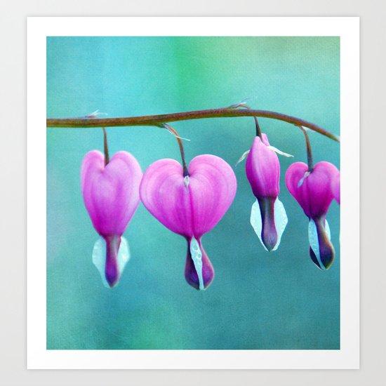 heart whispers Art Print