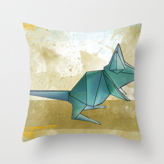 paper mouse Throw Pillow