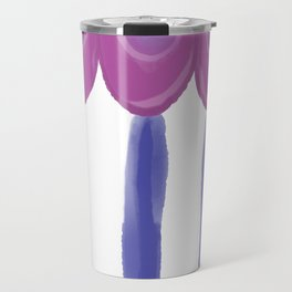 Circus Tent Stripes, Classic Blue and Purple Palette Travel Mug