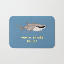 Whale Sharks Rule! Bath Mat