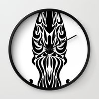 aquarius Wall Clocks featuring Aquarius by Mario Sayavedra
