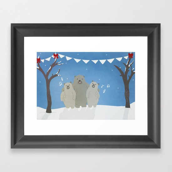 Winter Bears Framed Art Print
