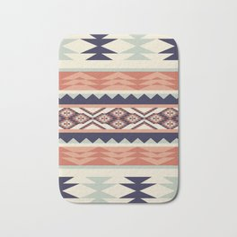 Native American Geometric Pattern Bath Mat