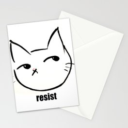 Resist kitty Stationery Cards