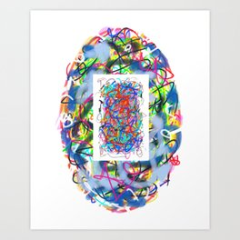 Abstract Oval Art Print