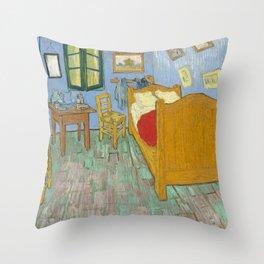 Vincent van Gogh - The Bedroom in Arles Throw Pillow