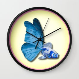 THE BUTTERFLY FISH - Barbara Wall Clock