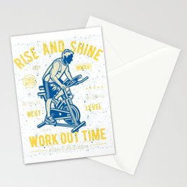 Rise And Shine Work Out Time Stationery Cards
