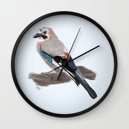The Eurasian Jay Wall Clock