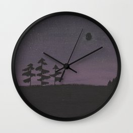 Muskoka nights Wall Clock