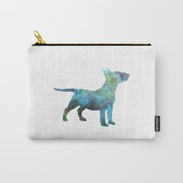 Miniature Bull Terrier in watercolor Carry-All Pouch
