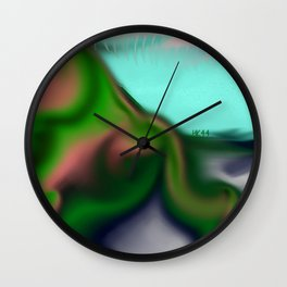 Smudged Colours 2 Wall Clock