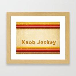 Knob Jockey Framed Art Print