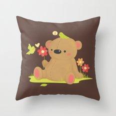 Hello Bear Throw Pillow